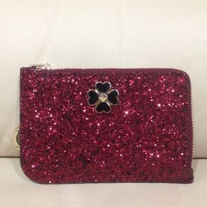 HP🎉 NWOT Kate Spade Red Sparkle Keychain Wallet